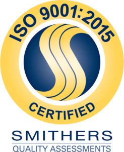Certified to ISO 9001:2015 by Smithers Quality Assessments